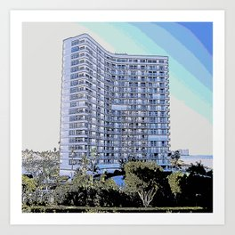 South Seas Tower 2 Marco Island, Florida Drawing Art Print