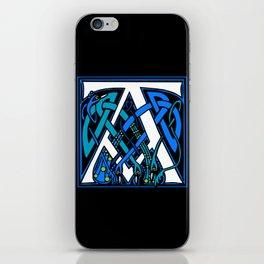 Celtic Peacocks letter A iPhone Skin