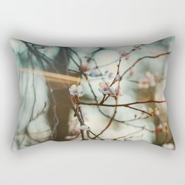 the first of the blossoms  Rectangular Pillow