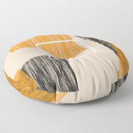 Abstract textured artwork II Floor Pillow