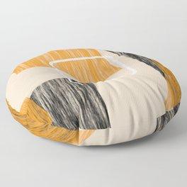 Abstract textured artwork II Floor Pillow