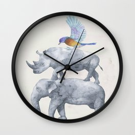 African Wildlife Wall Clock