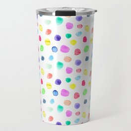 Watercolor confetti Travel Mug