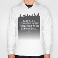 lotr Hoodies featuring LOTR - Devin's Shirt by TracingHorses
