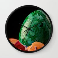 easter Wall Clocks featuring Easter by Karl-Heinz Lüpke