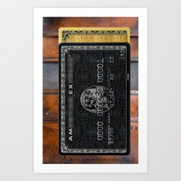 Amex in your hand - phone case - leather bg Art Print