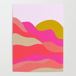 Adelaida, mountain sunset Poster