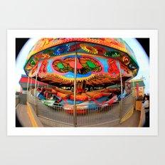 Pleasure Pier Art Print