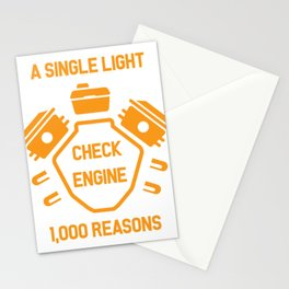 Machine Check Light Car Workshop Gift Stationery Cards