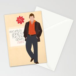 """Security is going to run you down hard."" Stationery Cards"