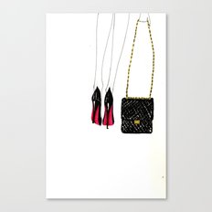 Red soles Canvas Print