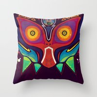 majora Throw Pillows featuring Majora by Tommy Price