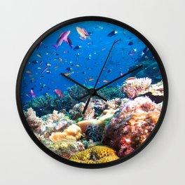 Coral Sea Photo Print Wall Clock