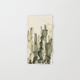 drawing cactus Hand & Bath Towel