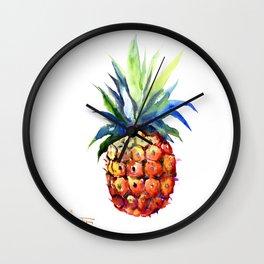 Pineapple, pina-colada, pineapple kitchen tropical design Wall Clock