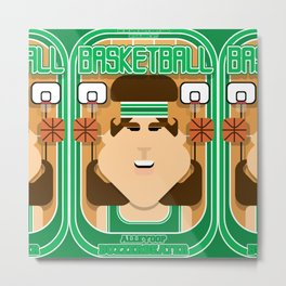 Basketball Green - Alleyoop Buzzerbeater - June version Metal Print