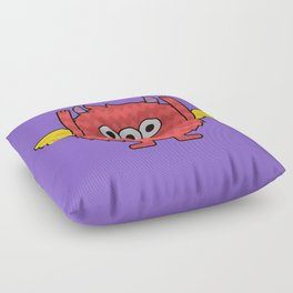 Monsticky Red monster Floor Pillow