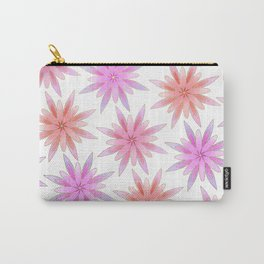 Modern Hand Painted Gold Watercolor Pink Lilac Floral Carry-All Pouch