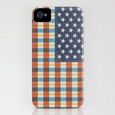 Plaid Flag. Slim Case iPhone (4, 4s)