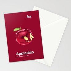 Aa - Appladillo // Half Armadillo, Half Apple Stationery Cards