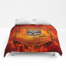 Awesome skull with celtic know Comforters