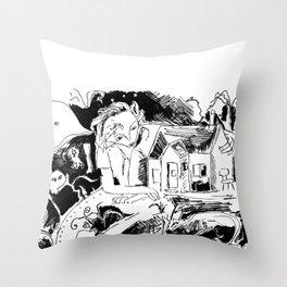 existential crisis Throw Pillow