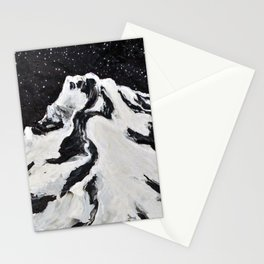 Mount Hood and Stars Stationery Cards