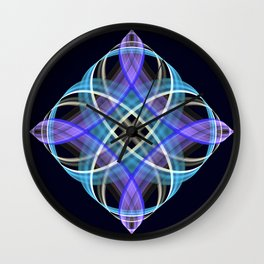 Four points geometric pattern design Wall Clock