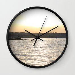 Kits Beach Sunset 2 Wall Clock