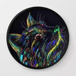 Color Cat Wall Clock