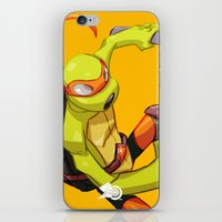 mike wrobel iPhone & iPod Skins featuring Mike TMNT by zeoarts