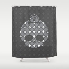 The Nik-Nak Bros. Saturation Drain Deluxe Shower Curtain