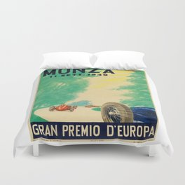 Grand Prix Monza, 1949, Gran Premio Monza, vintage poster Duvet Cover