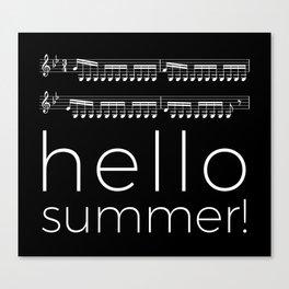 Hello summer! (black) Canvas Print