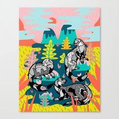 Otters Canvas Print