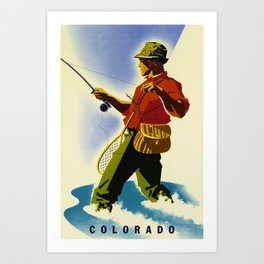 Colorado Fly Fishing Travel Art Print