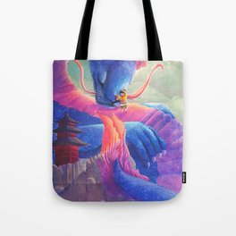 Dragon Hug Tote Bag