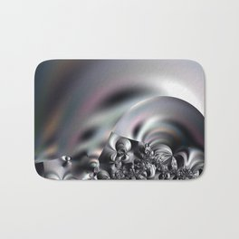 Complexity under smooth simplicity - Abstract play with focus Bath Mat
