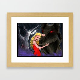 A red tree, a dead girl, and a mad wild dog: Deadly Premonition Framed Art Print