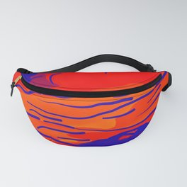 abstract style aurora borealis absbry Fanny Pack
