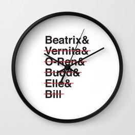 Helvetica Kill Bill Wall Clock
