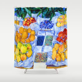 Gustave Caillebotte Fruit Stand Shower Curtain