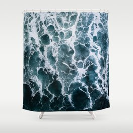 Minimalistic Veins in a Wave  - Seascape Photography Shower Curtain