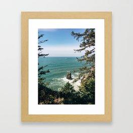 Into The Sea You & Me Framed Art Print