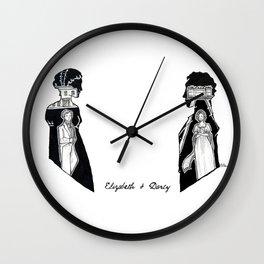 Elizabeth and Darcy  Wall Clock