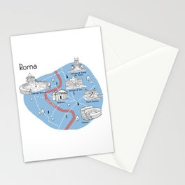 Mapping Roma - Original Stationery Cards
