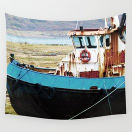 Rusted ship Wall Tapestry