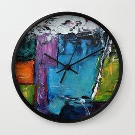 TETRIS, Abstract  Acrylic Painting, colorful mosaic Wall Clock
