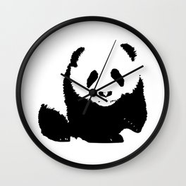 ''Nowhere Collection'' - Panda Bear Print Wall Clock