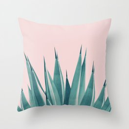 Blush Agave Dream #1 #tropical #decor #art #society6 Throw Pillow